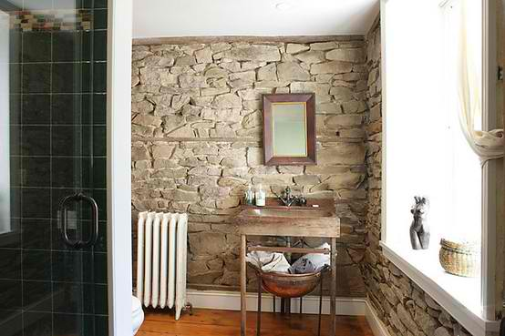 small stone bathroom design