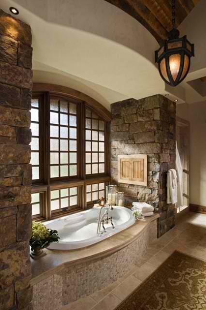 amazing stone bathroom 23 design