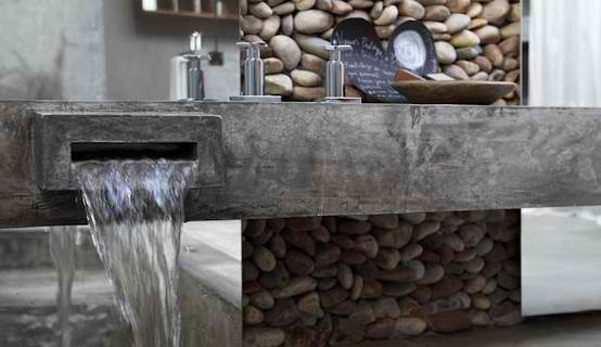 stone and concrete bathroom 27 design