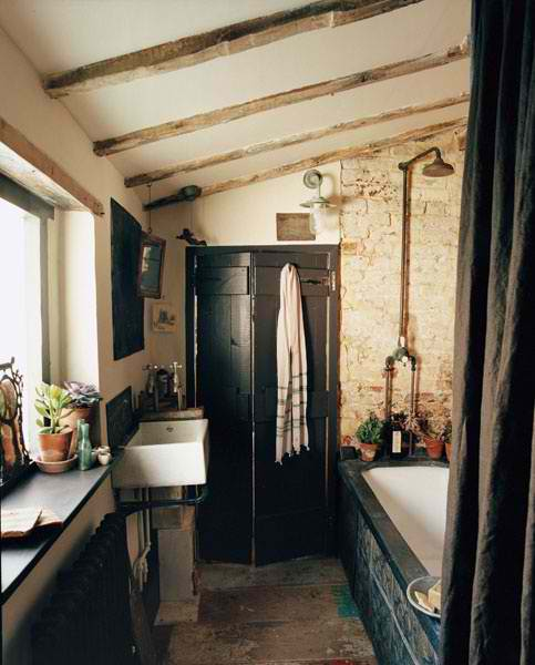 stone rustic bathroom 32 design
