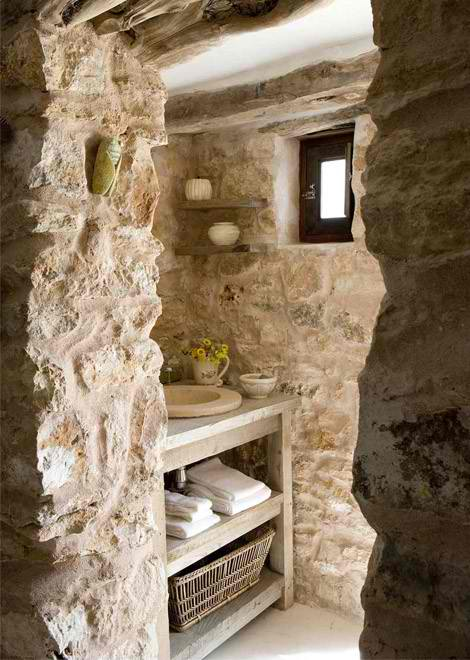 natural stone bathroom design