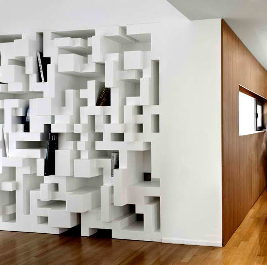 Tetris bookshelf designed by eleftherios ambatzis