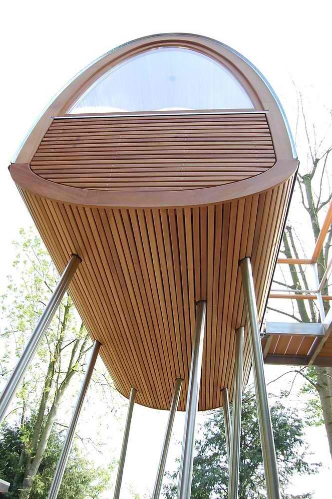 Curved Tree House 11 In Germany by baumraum