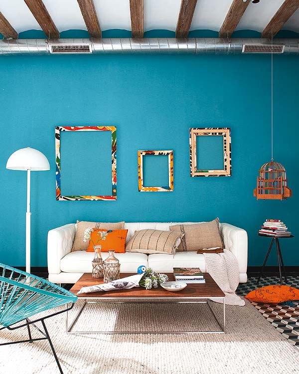 turquoise living room design