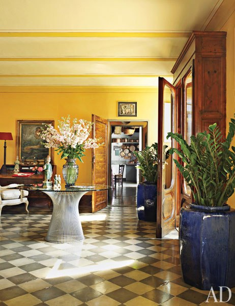 tuscan home entry hall