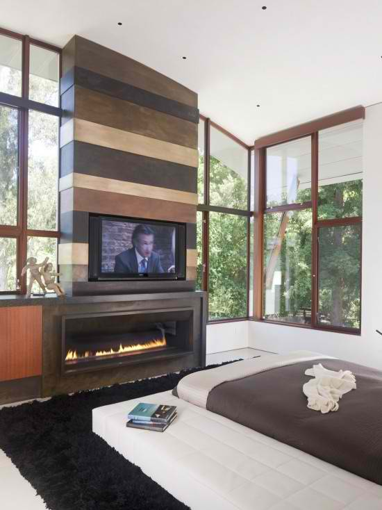 Amazing TV Above Fireplace Design Ideas Decoholic - Tv above fireplace pictures ideas