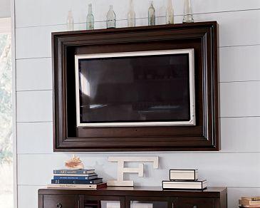 wood framed television