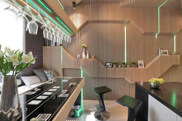 Ultra Modern ParametriX Kitchen by Geometrix Design2