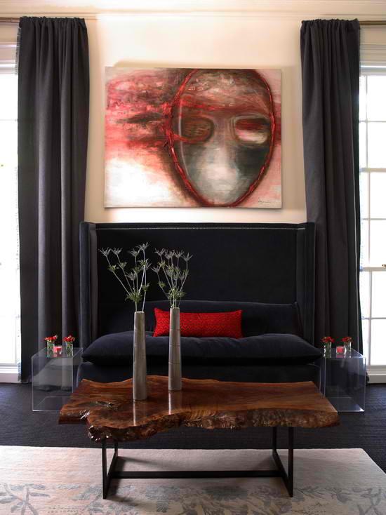 urban sophisticaterd living room by dillard design