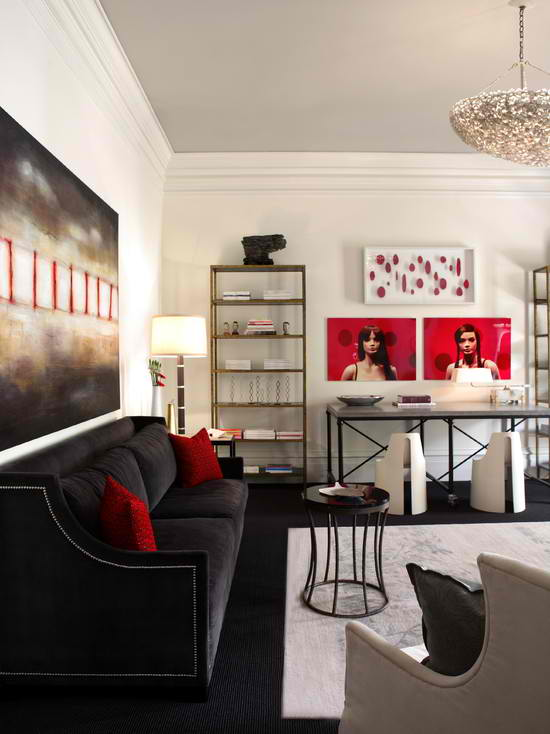 Urban Sophisticated Living Room Design By ASID