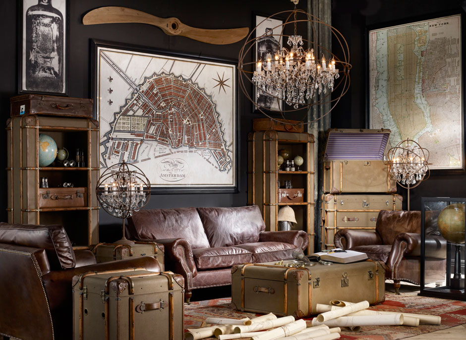 Vintage rooms by timothy oulton decoholic - Decoration industrielle vintage ...