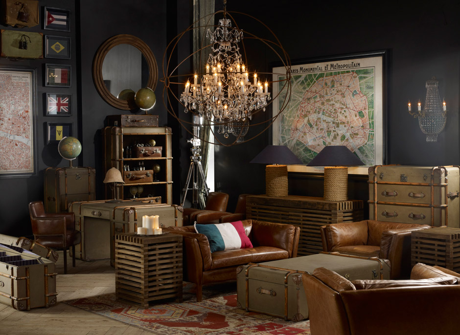 vintage rooms by timothy oulton decoholic. Black Bedroom Furniture Sets. Home Design Ideas