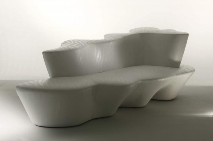 white contemporary colombostile sofa