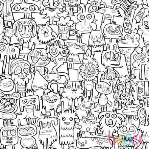 burgerdoodles_3_colour in_wallpaper_by_burgerplex - Pattern Pictures To Colour