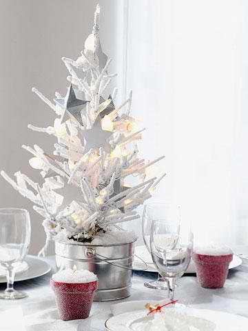 Mini Tree Christmas Table Centerpieces 13 ideas