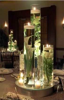 impressive Floating Candles Table Centerpieces 15