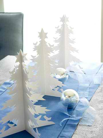 Paper Trees in white christmas centerpieces 16 ideas