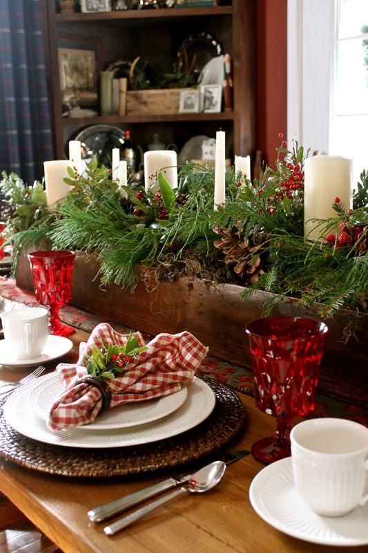 country candles Christmas centerpieces 20 ideas