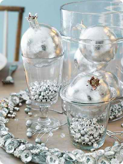 silver diy Christmas centerpieces 23
