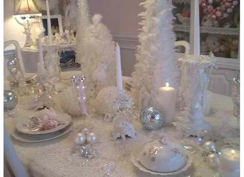 36 impressive christmas table centerpieces decoholic White christmas centerpieces