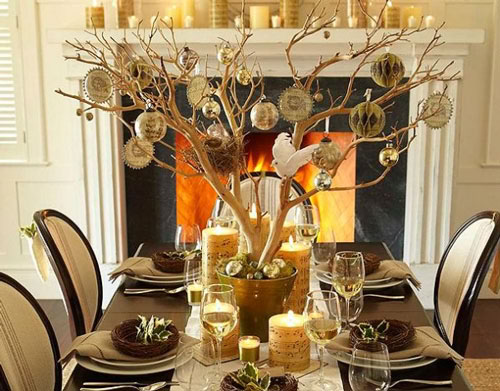 diy tree christmas centerpieces 27 - Diy Christmas Centerpieces