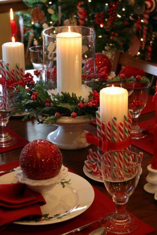 Christmas candle centerpieces 29