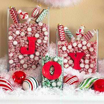 christmas cenerpieces 3 christmas candy decorations - Christmas Flower Decorations