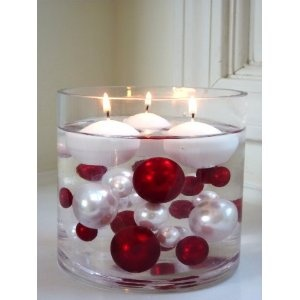floating candle Christmas centerpieces 30