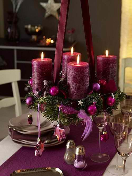 hanging candles centerpieces 31