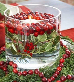 floating candle christmas centerpieces 34 - Christmas Vase Decorations