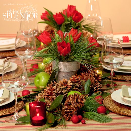 Floral Table Decorations For Christmas  Christmas Centerpieces 35