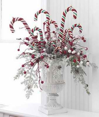 Candy Cane Bouquet Christmas centerpieces 7