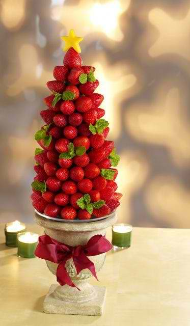 Fruits' Christmas tree Centerpieces