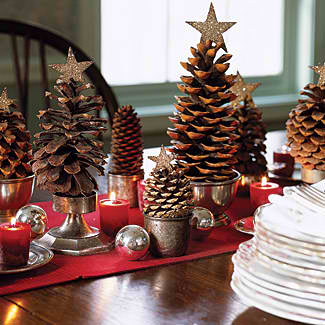 pinecone tree decor christmas craft ideas 12