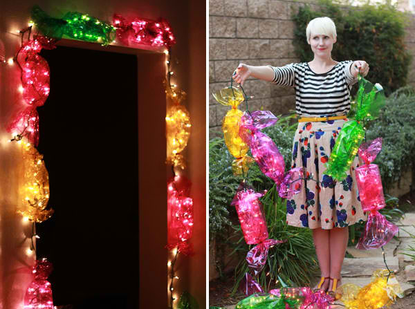 diy candy lights christmas craft ideas 14