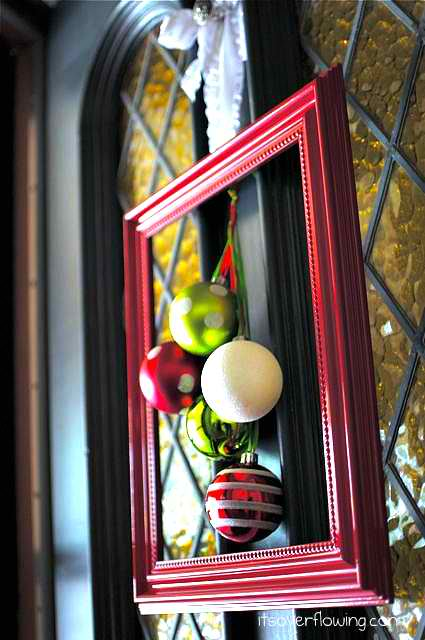 christmas ornament frame craft ideas for front door