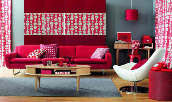 Color ideas for Living Room with Red