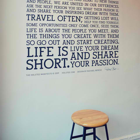 Holstee Manifesto Wall Decal3