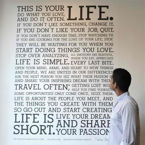 Holstee Manifesto Wall Decal4