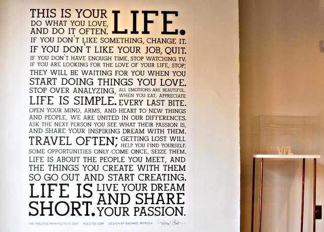 Holstee Manifesto Wall Decal