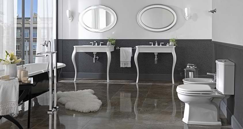 32 dream contemporary bathroom designs by porcelanosa - Idee deco salle de bain noir et blanc ...