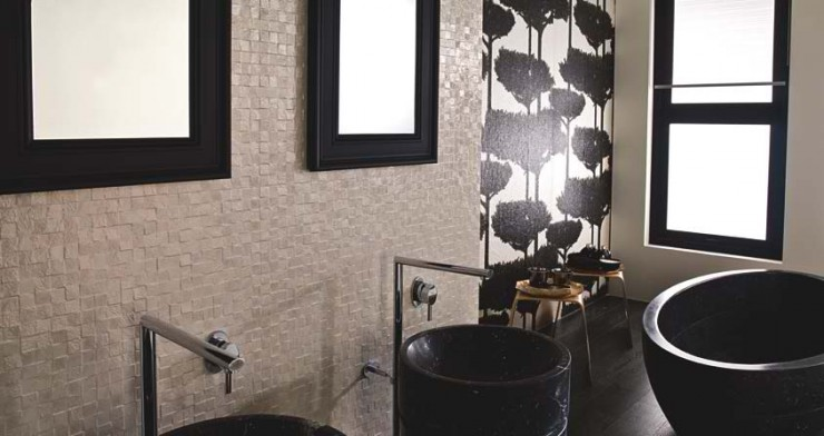 black and white tiles Contemporary Bathroom Design by Porcelanosa
