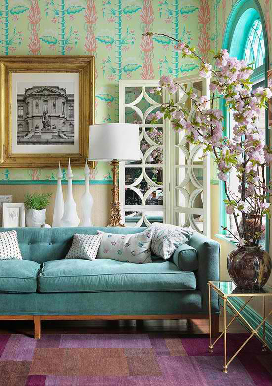 Pretty Living Room Colors Amazing Of Pink and Aqua Living Room Photos