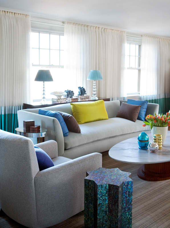 26 amazing living room color schemes - Blue Color Living Room Designs