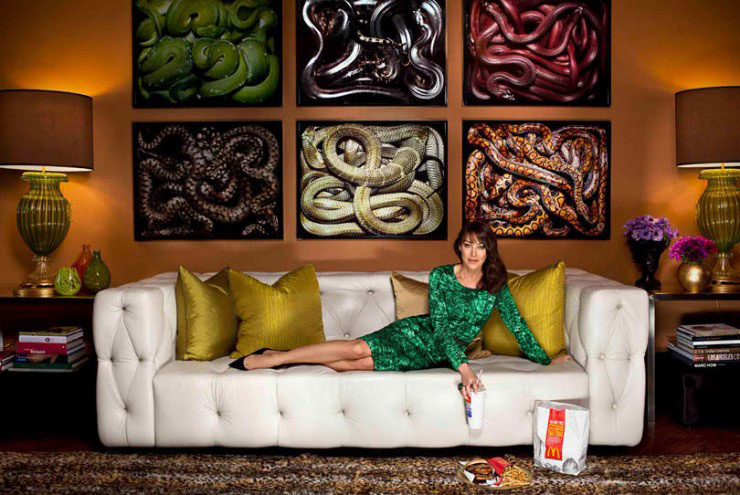 brown living room snake photo art color sheme