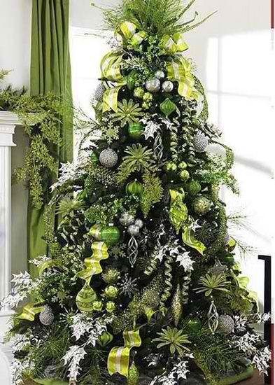 christmas 25 tree decorating ideas lime green