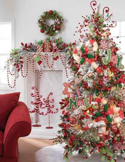 37 inspiring christmas tree decorating ideas decoholic Christmas tree ornaments ideas