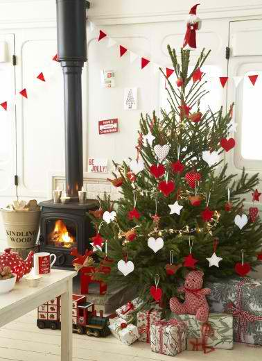christmas tree decoration ideas 31 via pinterest