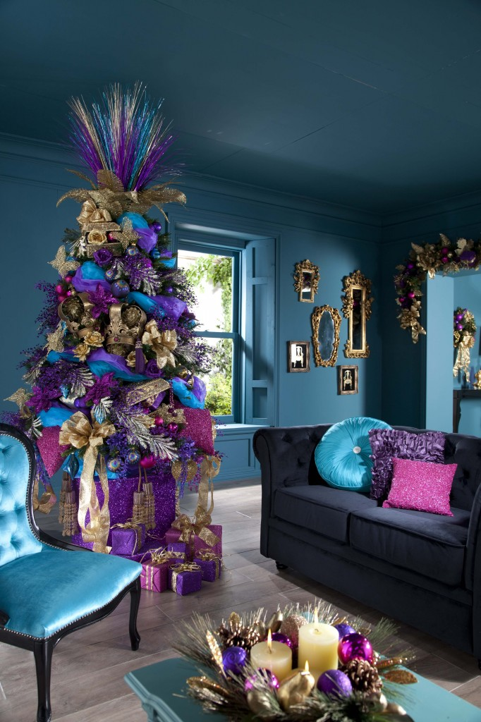 purple cristmas tree decorating ideas