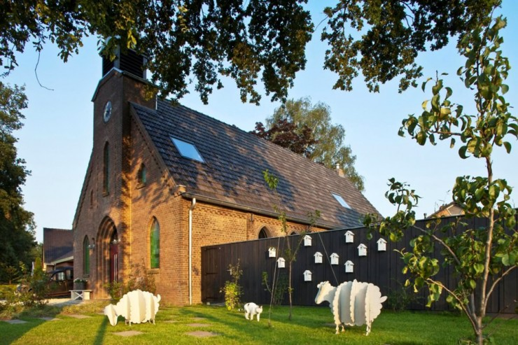 Church 18 Converted Into Modern Living Space by LKSVDD Architecten